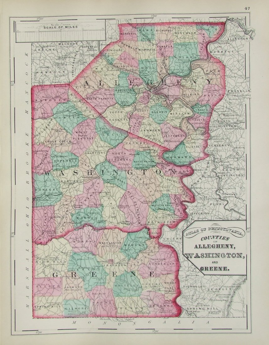 Pennsylvania: County Allegheny, Washington & Greene