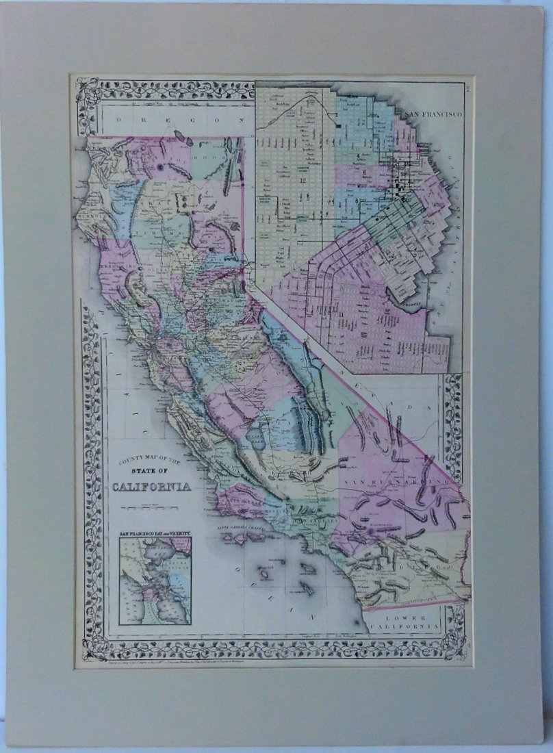Map of California by Mitchell, 1883