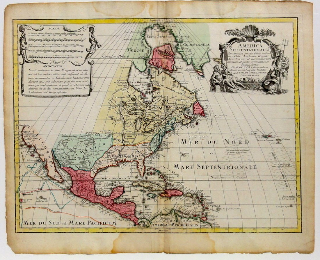 America by Lotter, 1760 (California as Island)