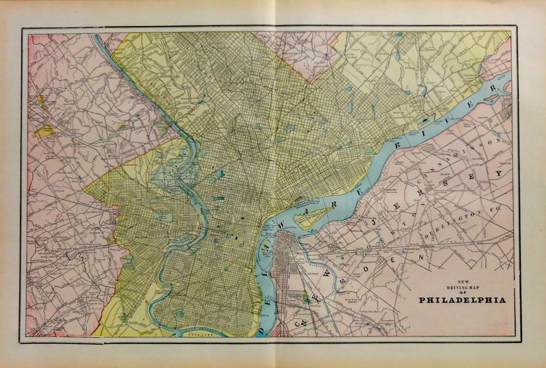 Map of Philadelphia, 1898