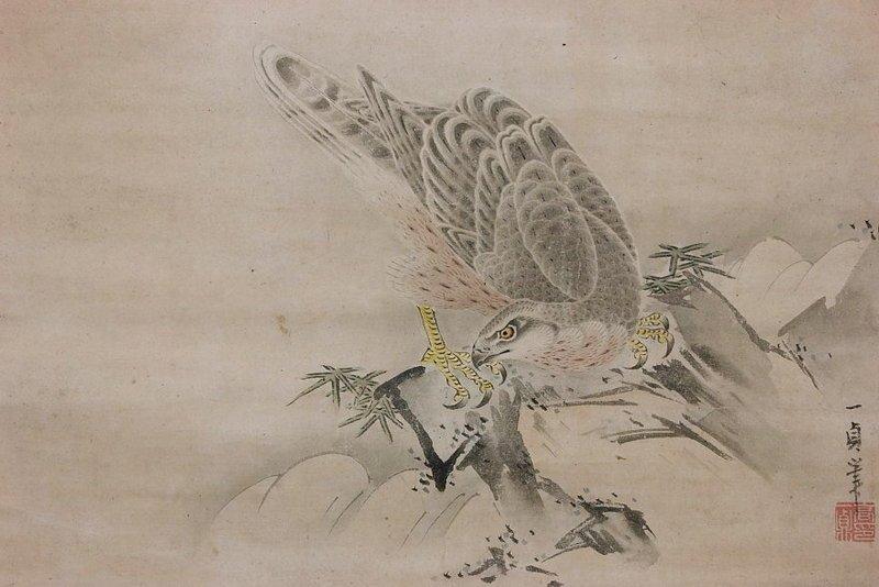Painting of Hawk by Kazusada