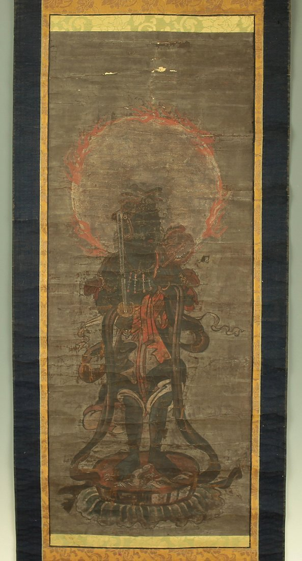 Buddhist Painting of the Water Deity