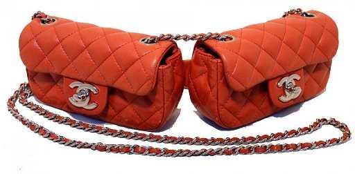 375cf950e97f Chanel Twin Red Leather Double Mini Classic Crossbody