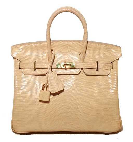 fe916decd045 RARE Hermes Ivory Lizard 25cm Birkin Bag