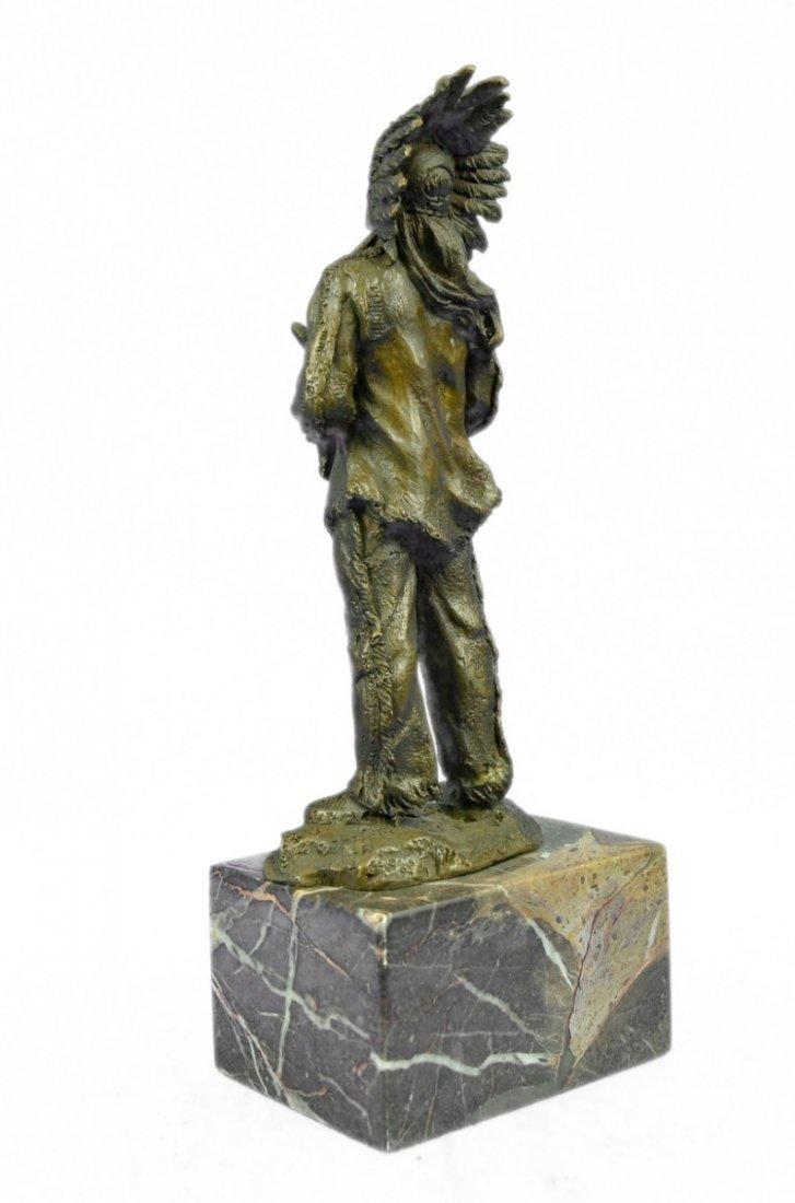 bronze on marble, Native American Shaman - 2