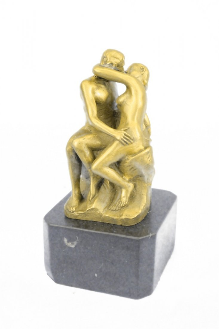 bronze on marble, The Kiss