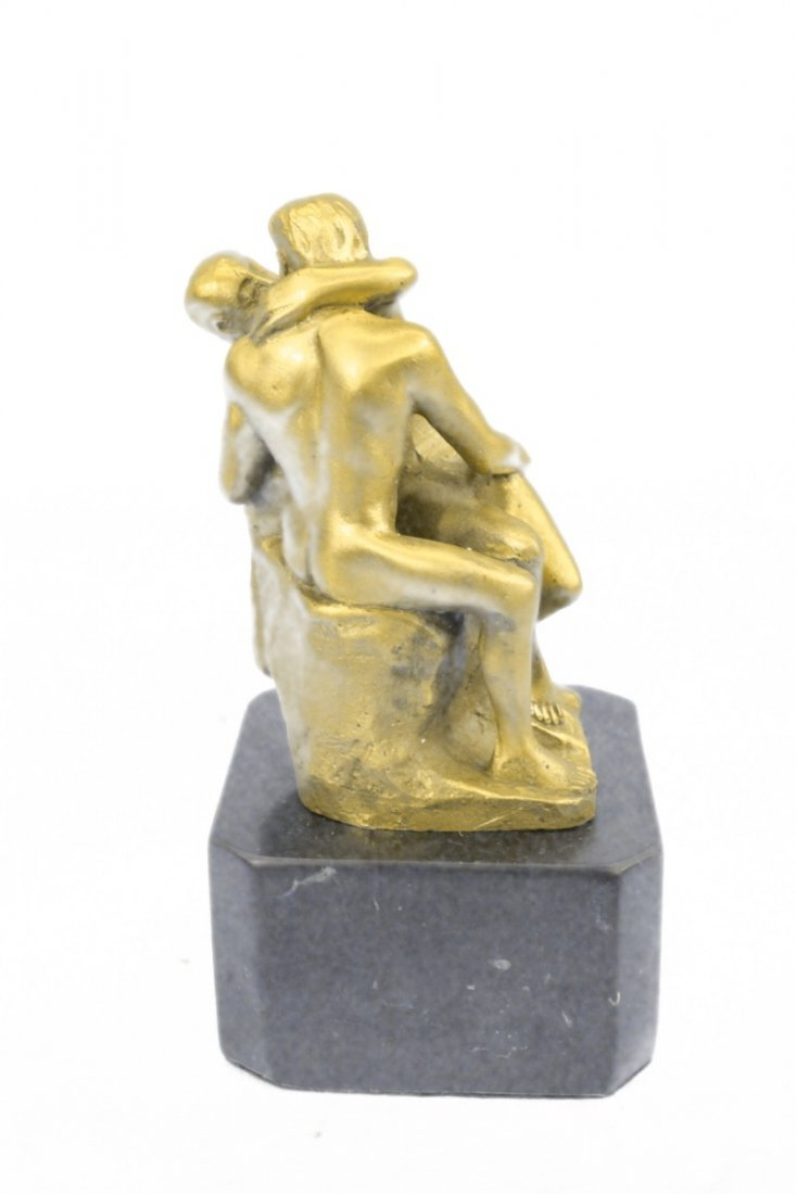 bronze on marble, The Kiss - 3