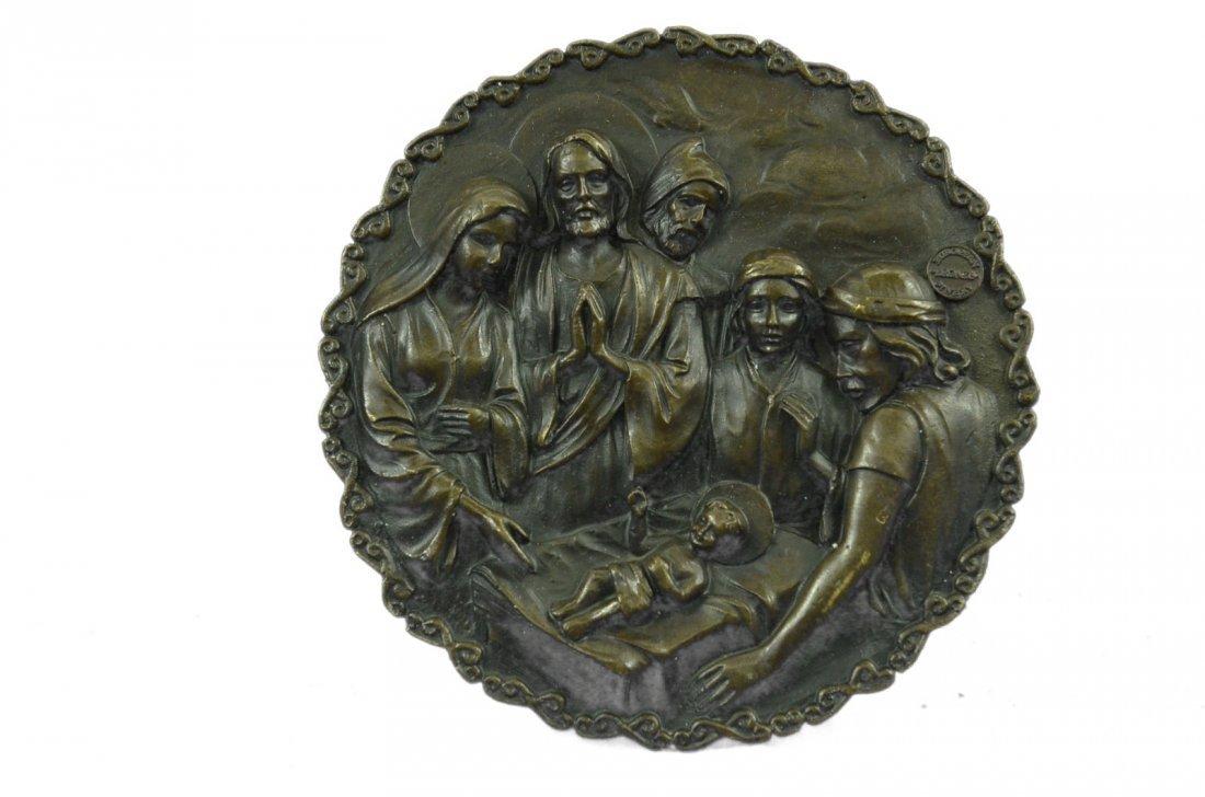 bronze on marble, Birth of Jesus