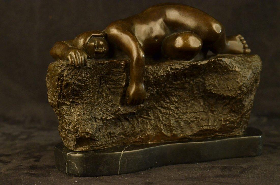 bronze on marble, Sleeping Woman