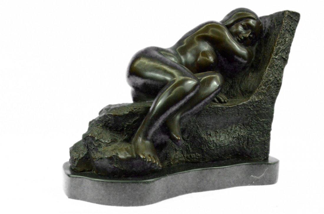 bronze on marble, Sleeping Nude Woman
