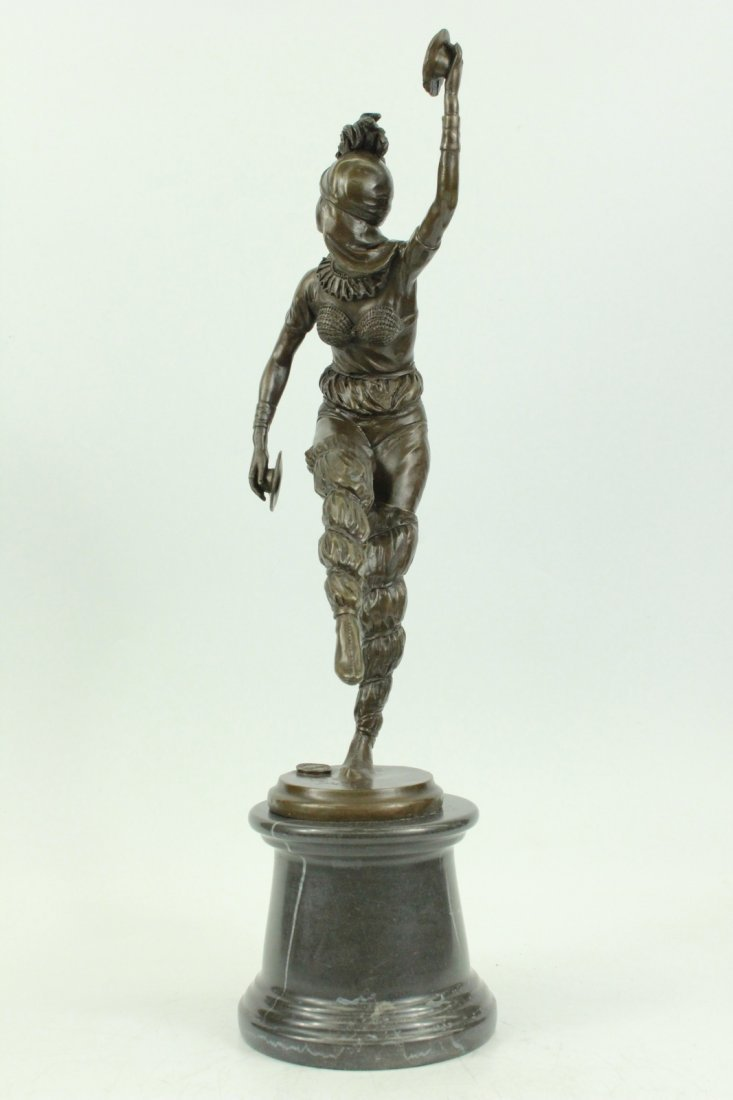 bronze on marble, Dancing to Music - 3