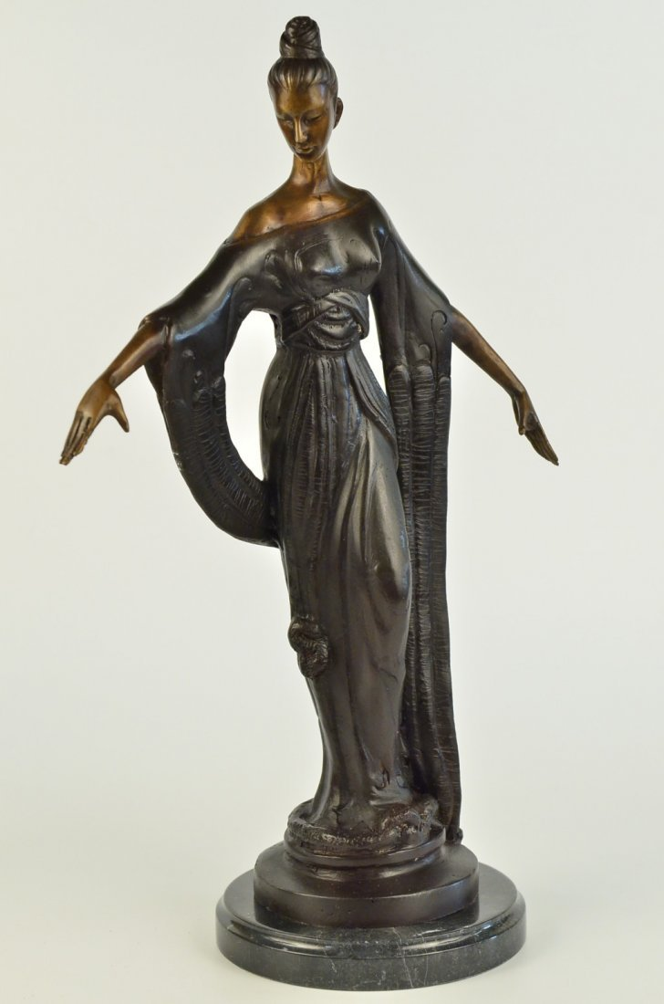 bronze on marble, Dancing to Music