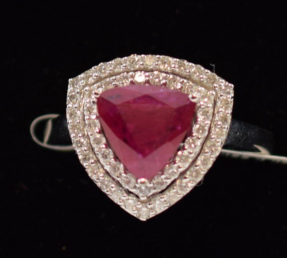GIA Ruby & Diamond Ring