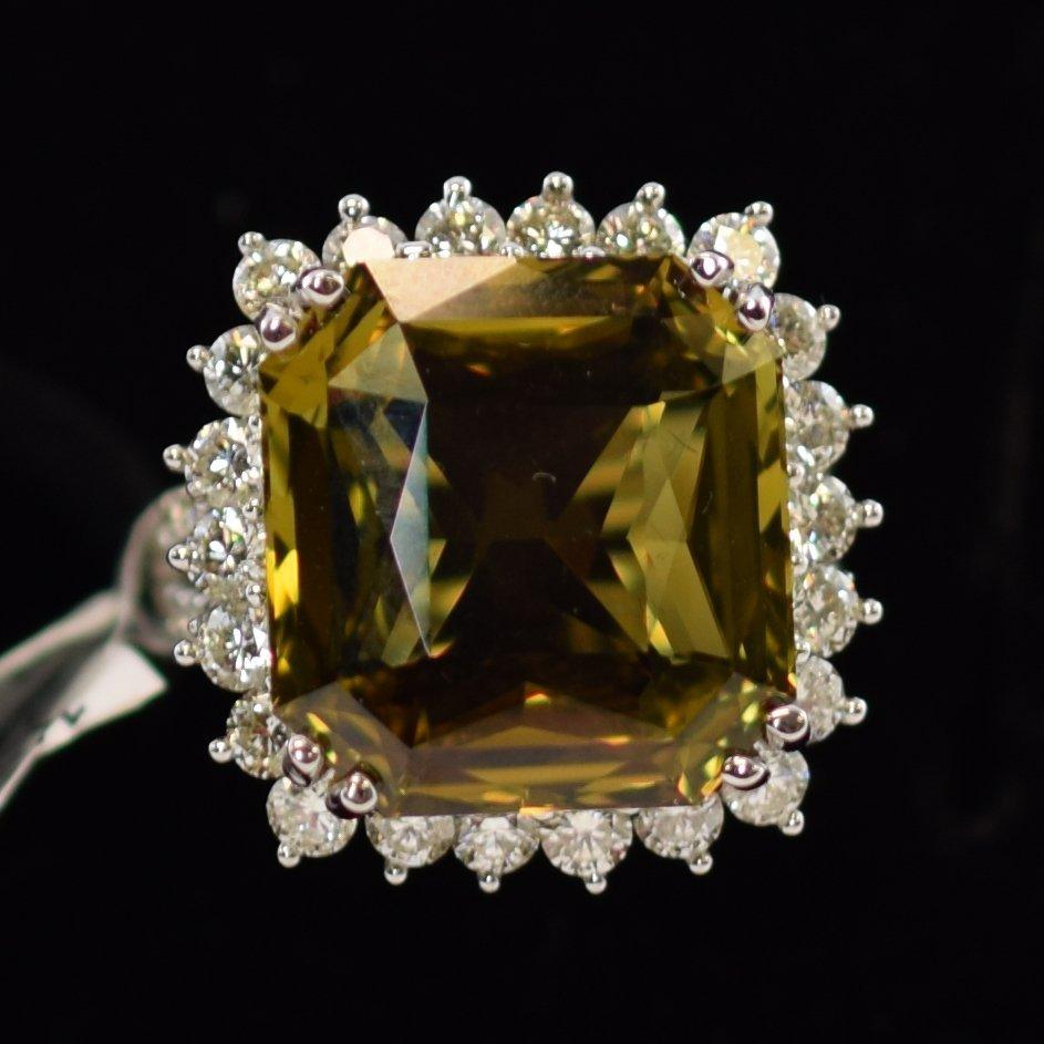 GIA Alexandrite & Diamond Ring