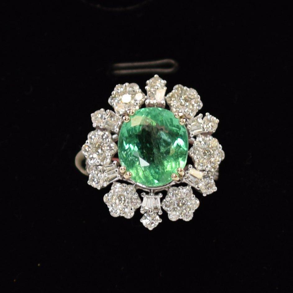 Paraiba Tourmaline & Diamond Ring