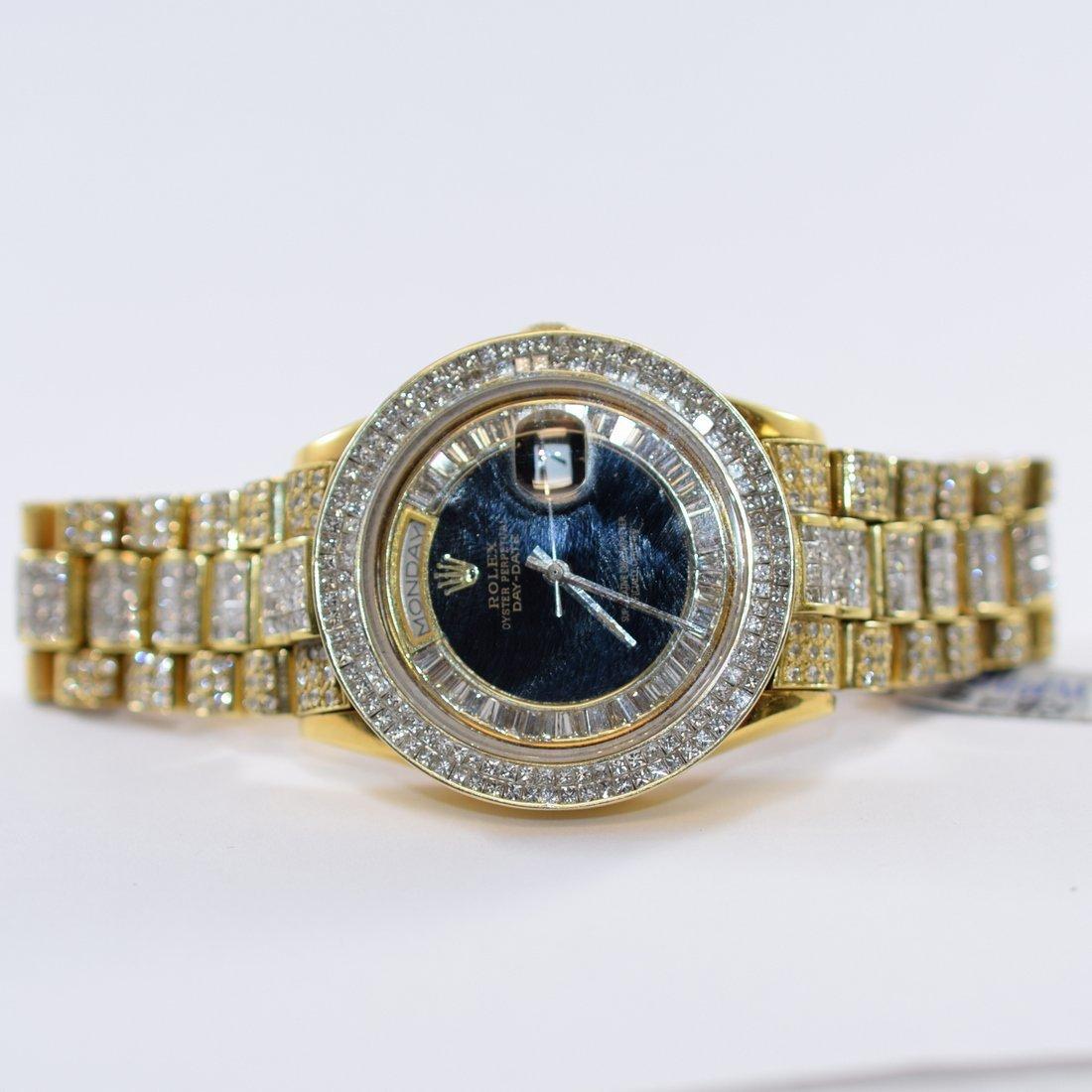 18K Gold Diamond Rolex Wristwatch