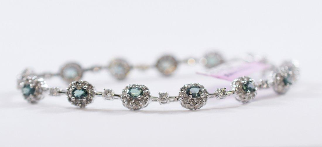 Alexandrite & Diamond Bracelet
