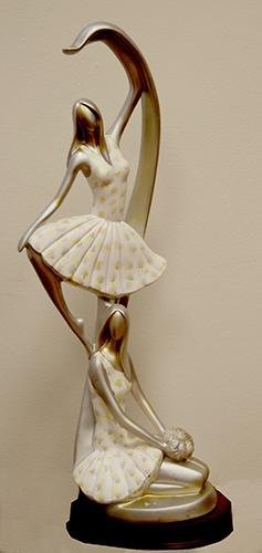 HAND PAINTED DANCING DECORATIVE FIGURINES