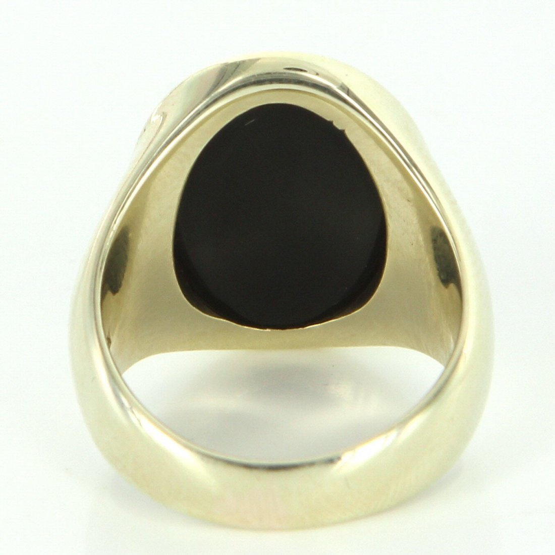 Mens Vintage Family Crest Oval Ring 14k Yellow Gold - 5