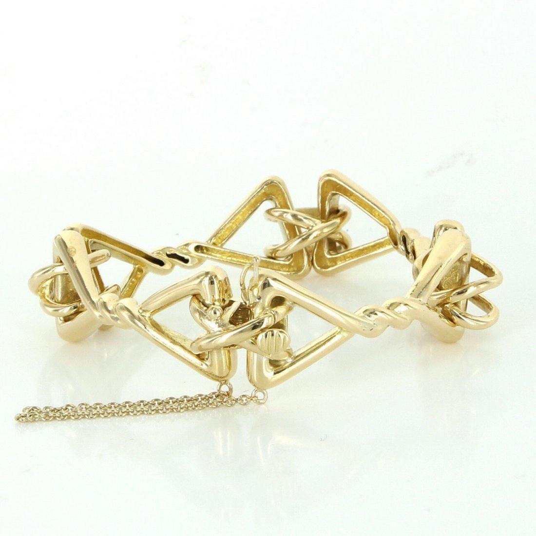Tiffany & Co 18k Yellow Gold Ornate Vintage Bracelet
