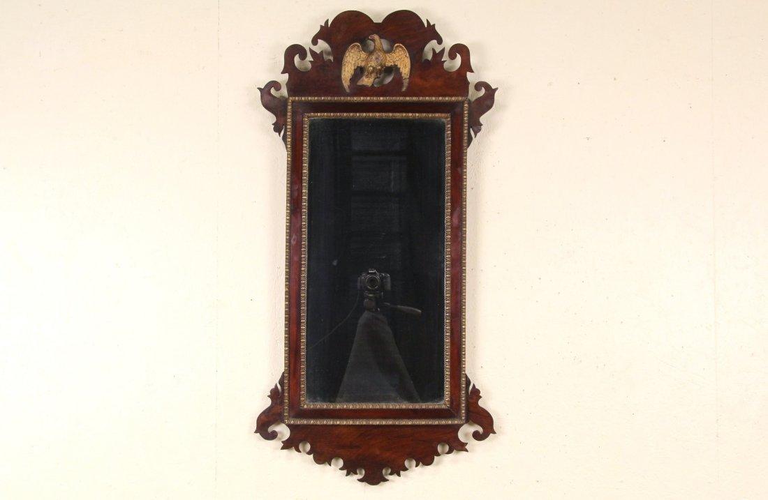 Centennial Georgian 1870's Antique Mahogany Mirror,