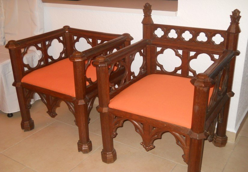 Gothic Revival chairs a pair sold as a set only