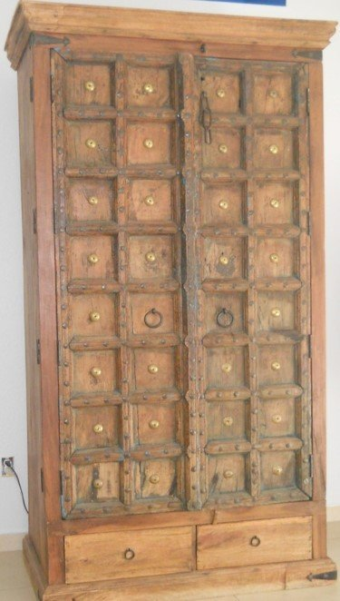 Armoire with antique Indian doors