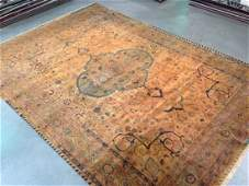 8x11 MAGNIFICENT VINTAGE DESIGN HAND KNOTTED RUG