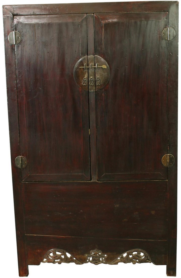 Chinese Armoire Cabinet Carved Wardrobe Dragons