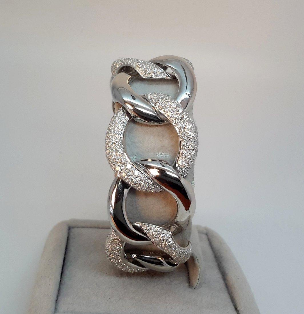 18k w/g Italian/pave Diamond Link Bracelet with 6.50ct