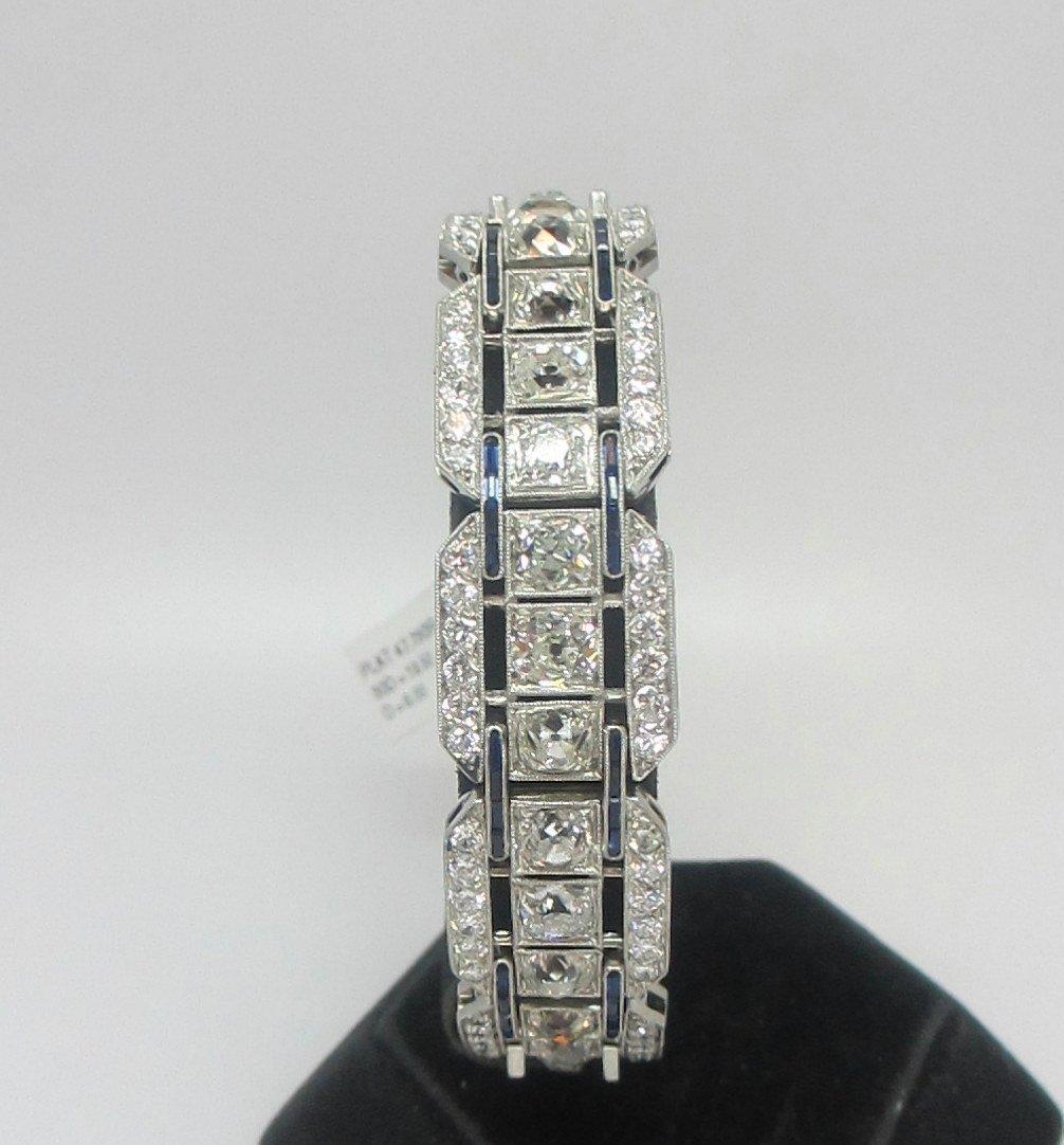 Beautiful antique natural diamond platinum bracelet