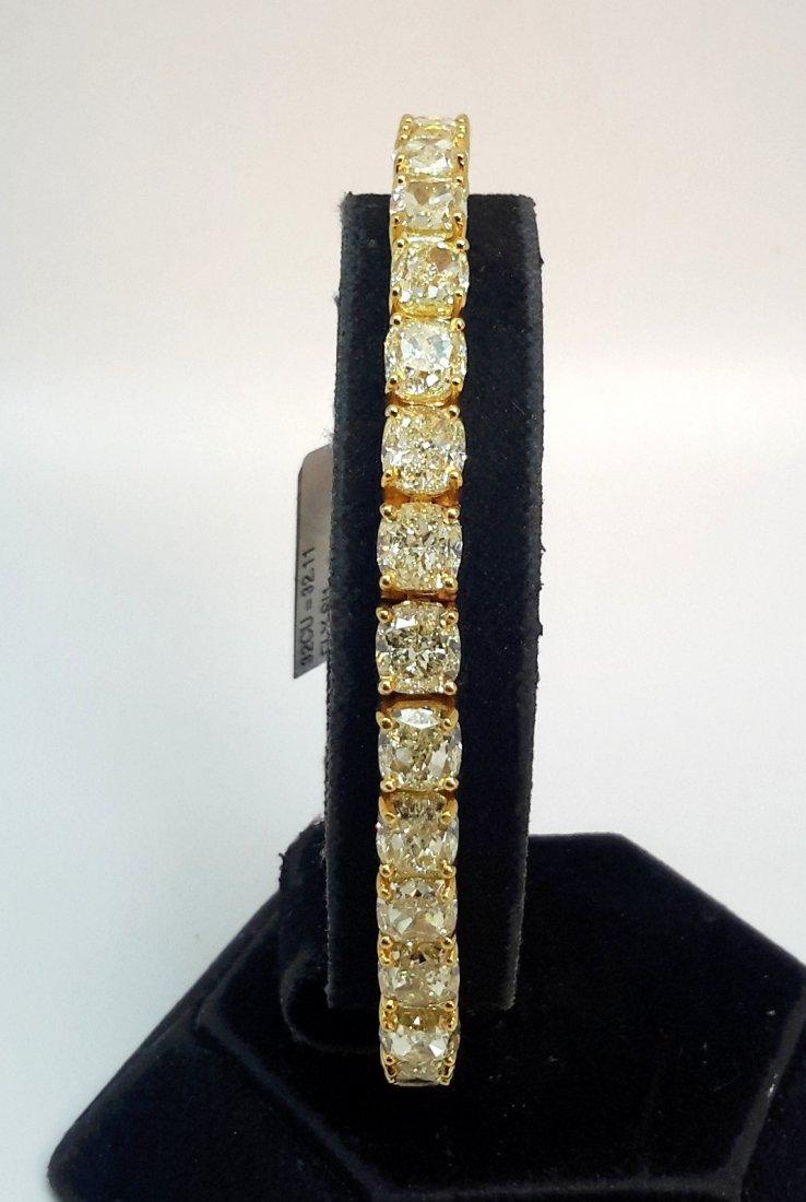 """18K Yellow Gold NATURAL FANCY YELLOW DIAMOND BRACELET"