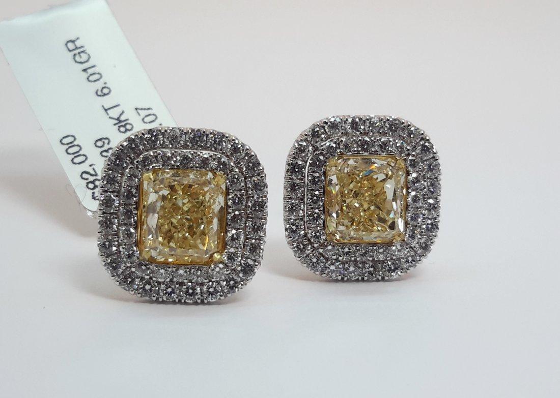 """18K White Gold FANCY Yellow & White DIAMOND"
