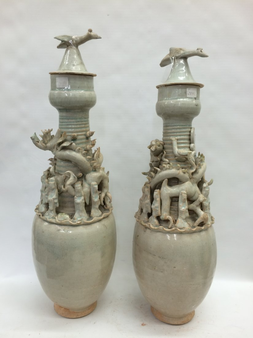 Pair of Funerary Urn