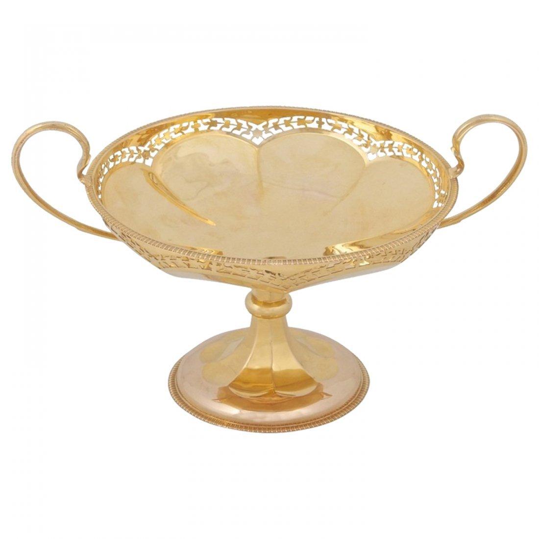 Rare Bvlgari 15K Gold Centerpiece in Custom Fitted Box