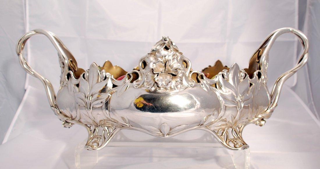 German Art Nouveau oval centerpiece