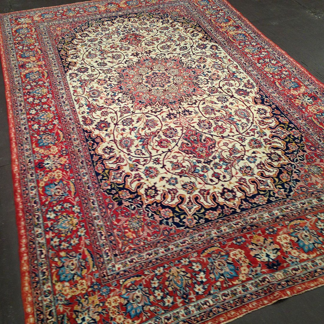 Antique Persian Isphahn Rug