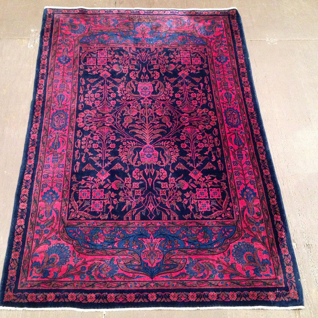 Antique Persian Manchester Kashan rug