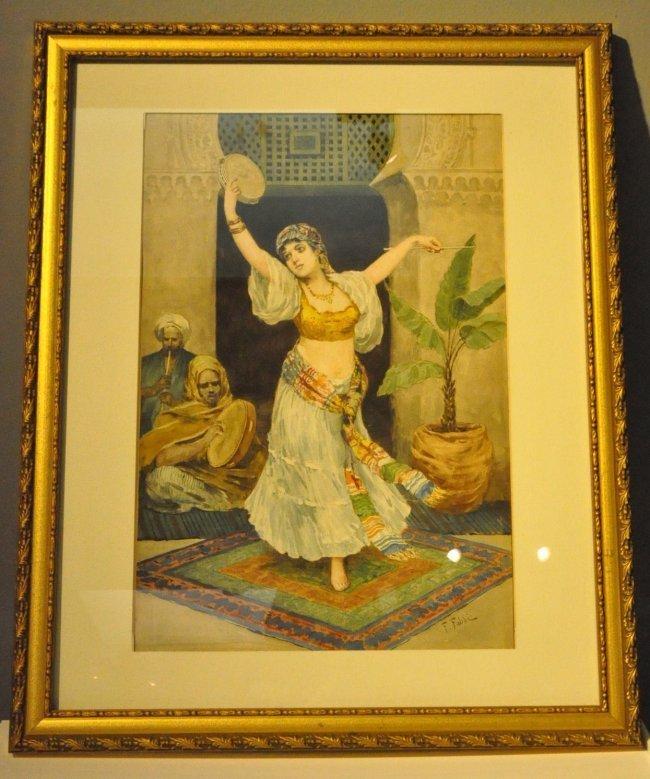 Orientalist Watercolor by Fabio Fabbi