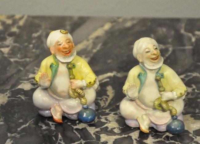 Pair of Meissen Porcelain Turkish Figurines