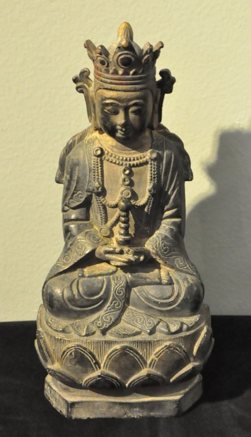 Chinese Bronze Seated Buddha Buddah Antique