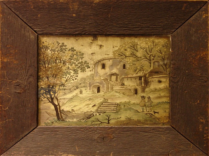 16th c. Brussels Rare Embroidery tapestry, Framed