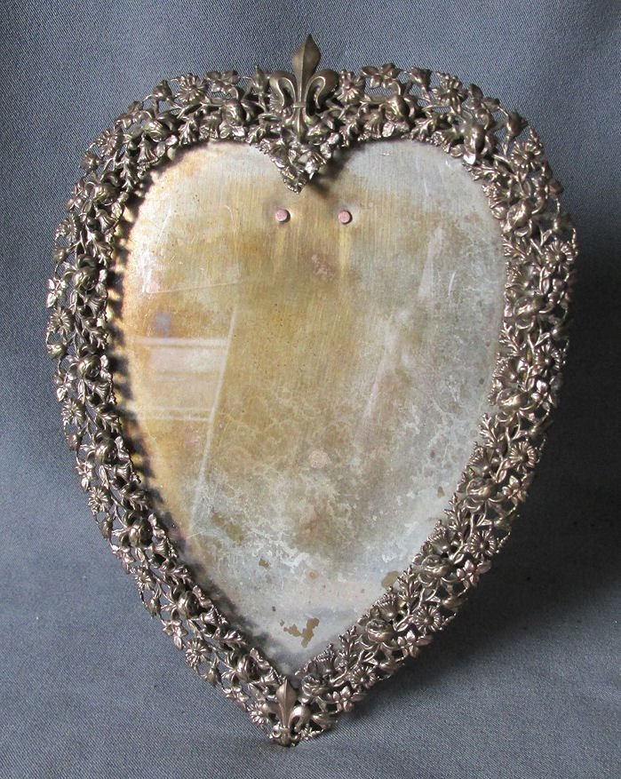 19thC Victorian Heart Shaped Picture Frame, French