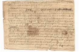 1728 Manuscript Colonial Summons