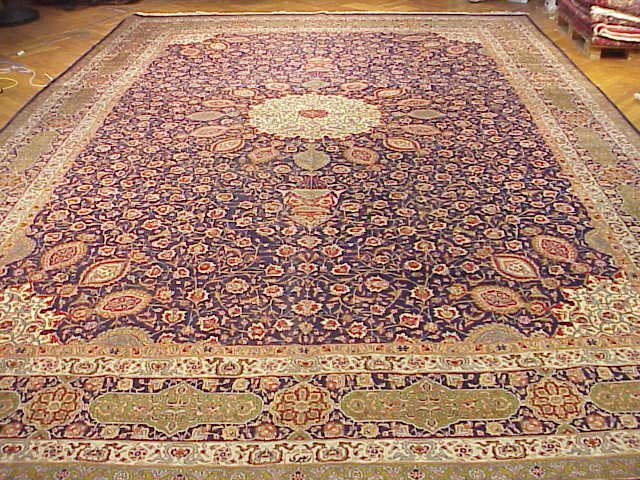Handmade 13 x 20 Rug Pre Revolution Silk & wool Persian