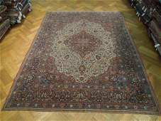 Handmade 9 x 12 Rug Antique Persian Kashan Dabir Circa