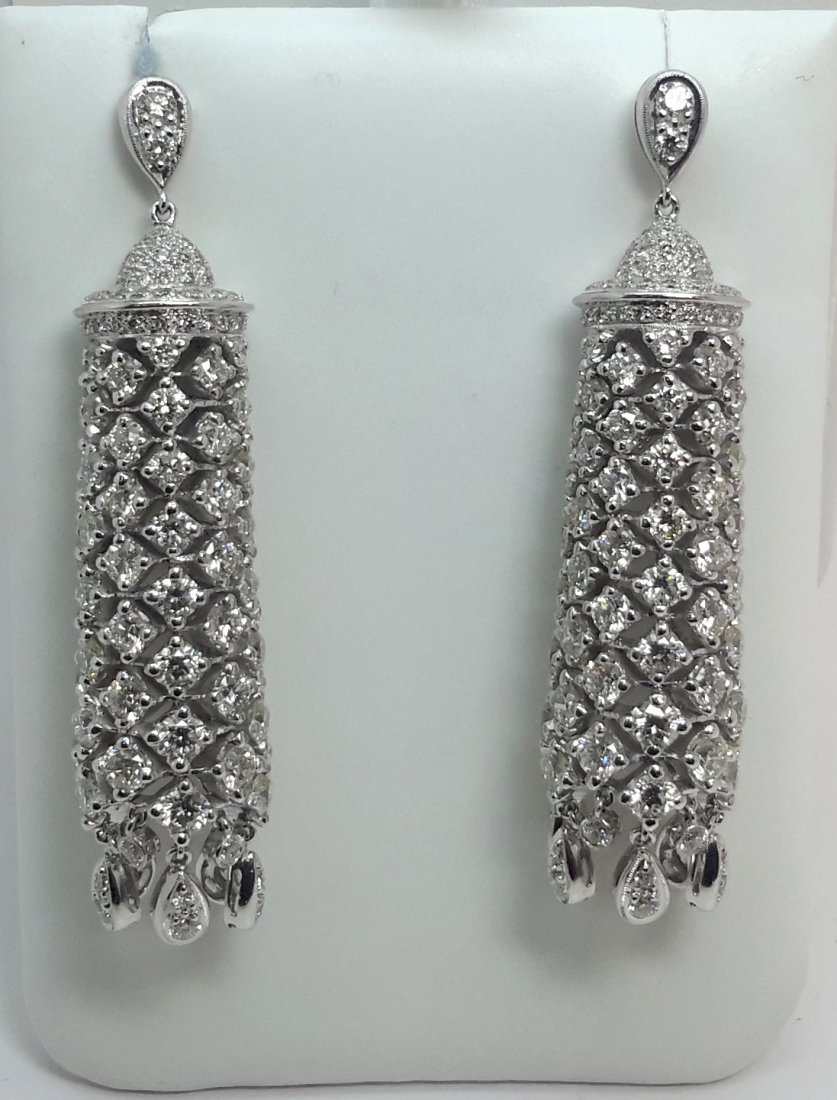 18k w/g Diamond Chandeliers Earring ,      Use these
