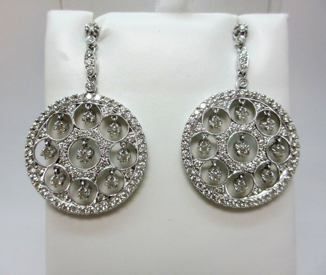 18k white gold Natural Diamond Earring,These Diamond