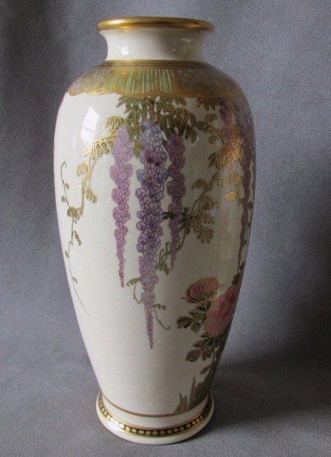 Japanese satsuma vase with wisteria flowers antique japanese satsuma vase with wisteria flowers reviewsmspy