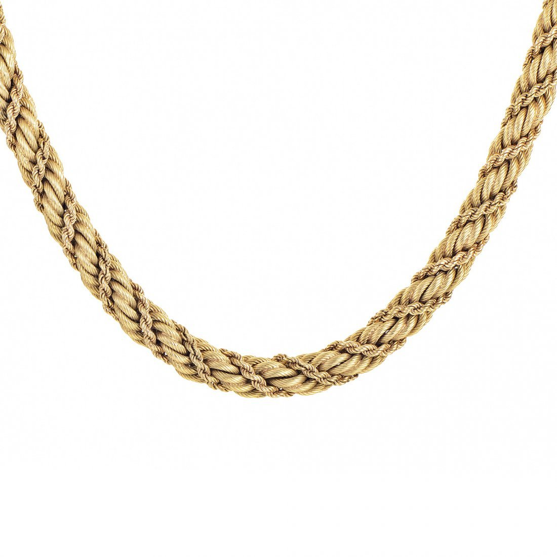 Tiffany & Co. 18K Yellow Gold Rope Collar Necklace